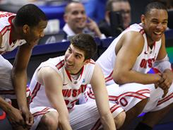 William Buford (left), Jon Diebler (center) and Jared Sullinger hope Ohio State can live up to its overall No. 1 seeding when it opens tournament play Friday.
