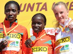 Shalane Flanagan won bronze at the IAAF World Cross Country Championships in Punta Umbria, Spain, on March 20. She finished behind race winner Vivian Cheruiyot from Kenya and Linet Chepkwemoi Masai from Kenya,