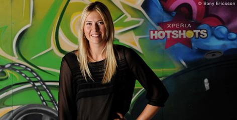 Maria Sharapova, who has had tremendous success marketing her own image, is one of the driving forces behind Sony Ericsson's Xpedia Hot Shots campaign.