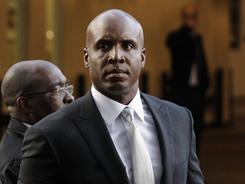 Barry Bonds arrives at the federal courthouse in San Francisco, more than three years after baseball's all-time home run leader was charged with lying to a federal grand jury.
