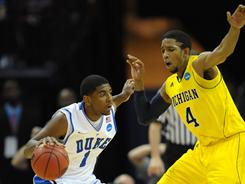 Duke vs. Michigan was the highest-rated game during the first weekend of the NCAA men's basketball tournament.