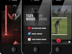 Tiger Woods offers up swing tips with his new app for the iPhone and iPod Touch.