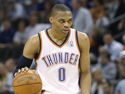 Oklahoma City's Russell Westbrook dominated in Wednesday night's game, scoring 31 points in the Thunder's 106-94 over the Jazz..