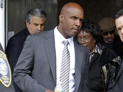 Barry Bonds leaves a federal courthouse in San Francisco on day four of his perjury trial.