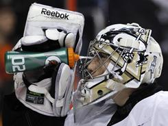 Pittsburgh Penguins goalie Marc-Andre Fleury has won three of the last four starts and will start Sunday's game against the Rangers.