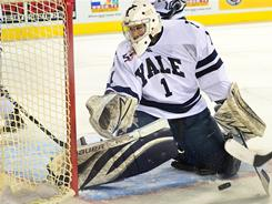 Senior goalie Ryan Rondeau leads Yale into the NCAA tournament as the No. 1 overall seed. Rondeau has a 1.83 goals-against average.