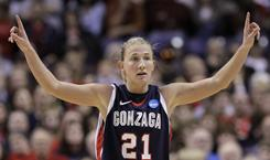 Gonzaga's Courtney Vandersloot scored 29 points in the Bulldogs' 76-69 win over Louisville in their NCAA tournament regional in Spokane, Wash.