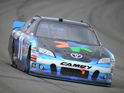 Denny Hamlin's engine failed 105 laps into Sunday's race in California, leading to a 39th-place finish.