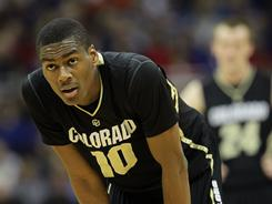Alec Burks, seen here during the Big 12 tournament, leads Colorado in scoring, rebounds and assists. The Buffaloes will play in the NIT semifinals Tuesday against Alabama.