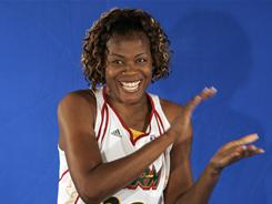 Sheryl Swoopes, shown here in 2008, last played for the Seattle Storm and won three MVP awards an four WNBA titles with the Houston Comets.