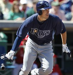Matt Joyce, who hit 10 homers in 216 at-bats in 2010, should see plenty of playing time in the Rays' outfield this season.