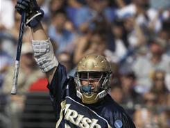 Notre Dame senior midfielder Zach Brenneman, a preseason All-American, has five goals for the unbeaten and second-ranked Irish.