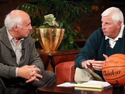 Sportscaster Billy Packer, left, would put the selection of the NCAA tournament field in the hands of former players and coaches like Bob Knight.