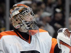 The Flyers, who reached the Final last season without a big-name goalie, has ridden the play of rookie Sergei Bobrovsky to the top record in the East.