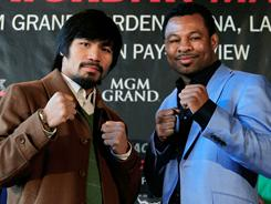 "Manny Pacquiao and Shane Mosley meet for Pacquiao's WBO welterweight title on May 7. Their four-part reality series, ""Fight Camp 360: Pacquiao vs. Mosley"", airs on CBS Saturday."