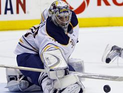After initially believing goalie Ryan Miller, last season's Vezina Trophy winner, would join them for their road trip, the Sabres will play Washington on Saturday without him.