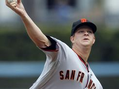 Matt Cain threw six shutout innings as the Giants finally got their first win of the season.