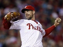 Cliff Lee had 11 strikeouts in seven impressive innings in his return to the Philadelphia rotation.