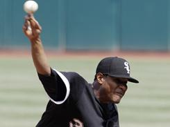 Edwin Jackson (33) allowed two earned runs and struck out seven in the White Sox' 8-3 win over the Indians on Saturday. Jackson is 8-0 in his last nine starts against Cleveland.