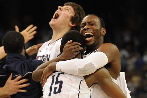 kemba walker images. Connecticut Huskies guard Kemba Walker (15) and guard Donnell Beverly embrace after winning UConn#39;s third national title
