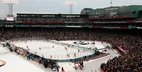 The Boston Bruins hosted the Philadelphia Flyers at Fenway Park for the 2010 NHL Winter Classic.