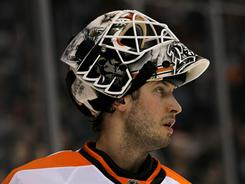 Goaltender Michael Leighton lifted the Flyers into the Stanley Cup Final last season but spent most of this season injured or in the minors.