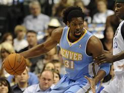 Nene grabbed 15 rebounds to help the Nuggets to their seventh win in eight games.