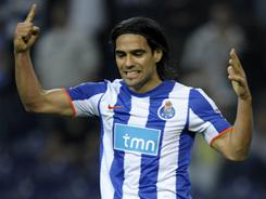Radamel Falcao's hat trick helped FC Porto rout Spartak Moscow 5-1 in the first leg of the Europa League quarterfinals.