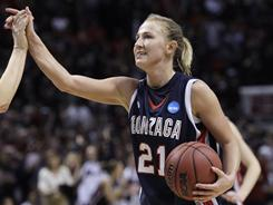 Point guard Courtney Vandersloot, who led Gonzaga to the Elite Eight two weeks ago, is a projected first-round pick in Monday's WNBA draft.