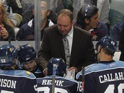 Peter DeBoer was fired Sunday after the Florida Panthers finished last in the Eastern Conference.