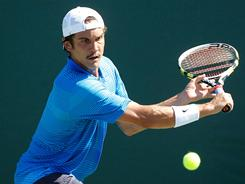 Ryan Sweeting, 23, who needed a wild card to gain entrance to the U.S. Clay Court Championships, reached his first ATP final after beating Ivo Karlovic in straight sets.