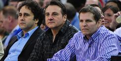 Sacramento Kings owners, from left, George, Gavin and Joe Maloof have until April 18 to file relocation papers with the NBA to move the club to Anaheim, Calif.