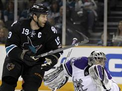 Sharks captain Joe Thornton says having all three California teams in the playoffs will be good for hockey in the state.