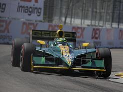 Tony Kanaan, driving during a practice session for the season-opening Grand Prix of St. Petersburg on March 26, heads a driver advisory group along with Dario Franchitti and Justin Wilson.