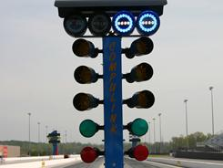 New Christmas Tree lights will be used this weekend during the VisitMyrtleBeach.com NHRA Four-Wide Nationals at zMAX Dragway in Concord, NC.