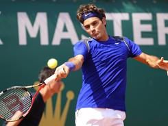 Roger Federer, playing a forehand during his win over Marin Cilic of Croatia, will play seventh-seeded Jurgen Melzer of Austria in the quarterfinals.