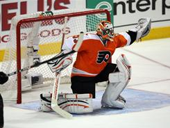 Goalie Brian Boucher relived starter Sergei Bobrovsky during Game 2 and stopped 20 of 21 shots in the Flyers 5-4 win over the Sabrees.