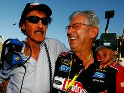 Wood Brothers Racing co-owner Leonard Wood (right), shown celebrating with Richard Petty after Wood's team won the Daytona 500 in February, is one of five new nominees for the 2012 NASCAR Hall of Fame.