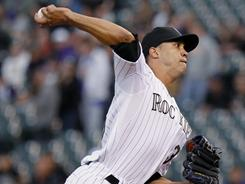 Rockies pitcher Ubaldo Jimenez returned from the disabled list in the Rockies' 6-3 loss to the Giants. Jimenez went five innings, striking out six and giving up four runs.