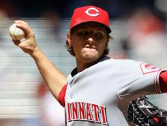 Starting pitcher Mike Leake will start for the Reds on Thursday.