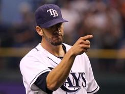 Rays starting pitcher James Shields throws a complete game against the White Sox.