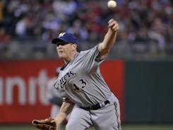 Randy Wolf, whose best season came with the Phillies in 2003, tossed six shutout innings in Philadelphia on Tuesday night.