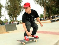 Skateboarder Rob Dyrdek unveils 7-Eleven Urban Skate Store on May 18, 2010 at North Hollywood Park in North Hollywood, Calif.