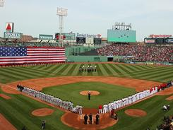 Pregame activities on April 8 set the stage for another opening day at Fenway Park.
