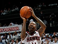Hawks guard Jamal Crawford scored 18 of his 23 points in the second half of Friday night's 88-84 win over the Magic. Atlanta leads the series 2-1.