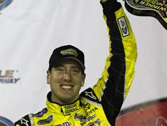 Kyle Busch led 140 of 150 laps en route to his win at the Truck Series' Bully Hill Vineyards 200 on Friday at Nashville Superspeedway.