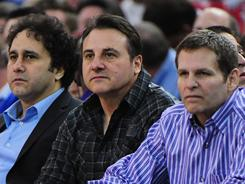 Maloof brothers (from left to right) George, Gavin and Joe announced the family is still mulling whether to move the Kings to Anaheim from Sacramento.
