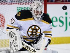Boston Bruins goalie Tim Thomas' .938 save percentage this season set an NHL record.
