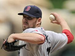 John Lackey threw eight shutout innings against his former team on Sunday.  The Red Sox went on to beat the Angels 7-0.