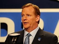 Viewers can choose to watch NFL Commissioner Roger Goodell, above at the 2010 draft, announce selections on  NFL Network or ESPN.